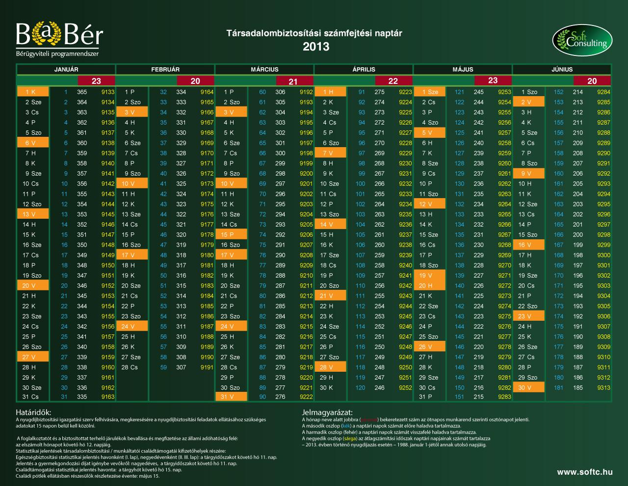 TB naptár 2013/1